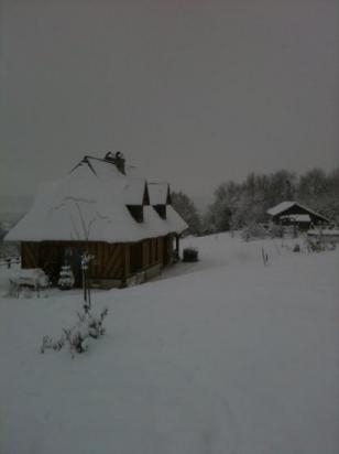 tempête de neige en cours